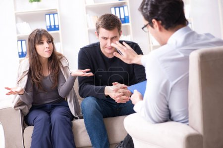 Photo for Family visiting psychologist for family problem - Royalty Free Image