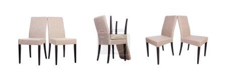 Foto de El conjunto de sillas aisladas sobre blanco - Imagen libre de derechos