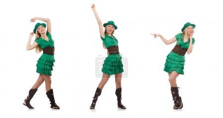 Frau in Saint-Patrick-Konzept