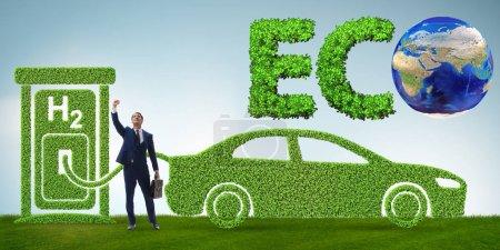 Photo pour Le concept de voiture à hydrogène dans le concept de transport écologique - image libre de droit