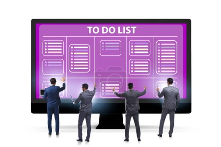 Photo pour Le concept de faire une liste avec l'homme d'affaires - image libre de droit