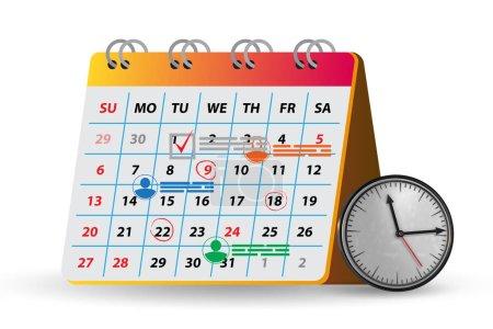 Photo pour Le concept de calendrier à des fins de planification - rendu 3D - image libre de droit