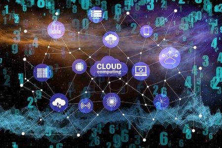 Concept de Cloud Computing - rendu 3d