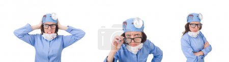 Photo for The female young doctor isolated on white - Royalty Free Image