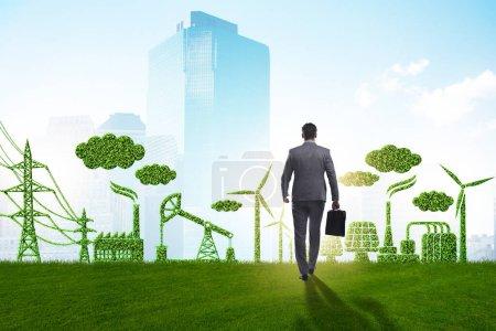 Foto de El concepto verde y ecológico con el empresario - Imagen libre de derechos