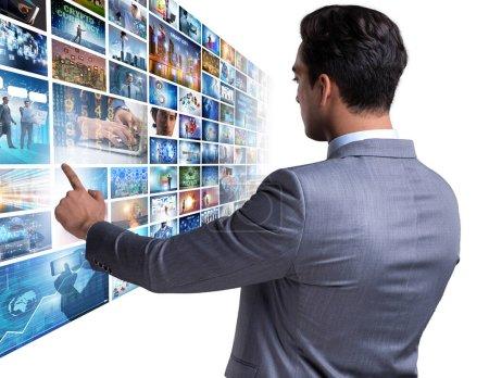 Foto de El collage de fotos con hombre de negocios - Imagen libre de derechos