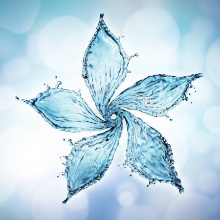 flower made of water splash