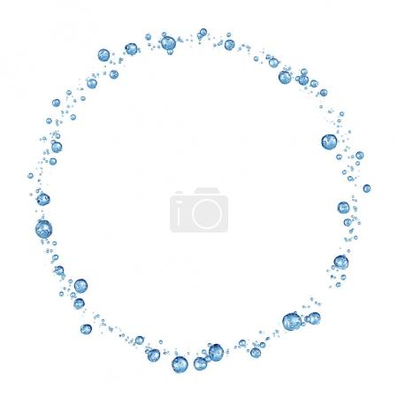 Photo for 3D detailed illustration of a drop of water. White background - Royalty Free Image
