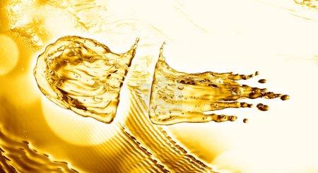 Photo for Oil splash on gold bokeh background. 3d rendering - Royalty Free Image