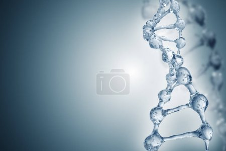 DNA molecules on the beautiful backdrop