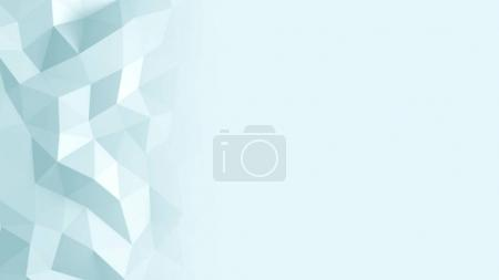 Abstract Polygonal Geometric background blue color