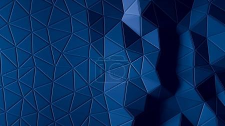 Photo for Abstract Polygonal Geometric background blue color 3d - Royalty Free Image