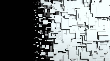 Black and white cubes screen wipe transition