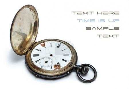 Photo pour Vieille horloge antique avec mécanisme d'horlogerie - image libre de droit