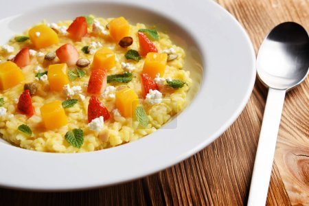 Photo for Vegetable soup with pumpkin seeds - Royalty Free Image
