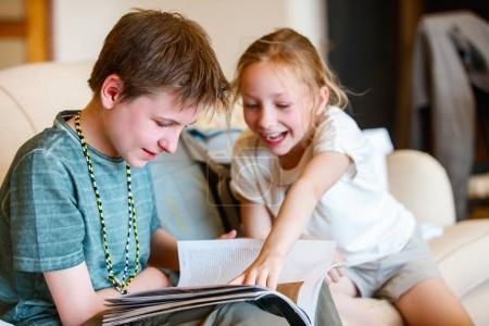 Casual portrait of little kids