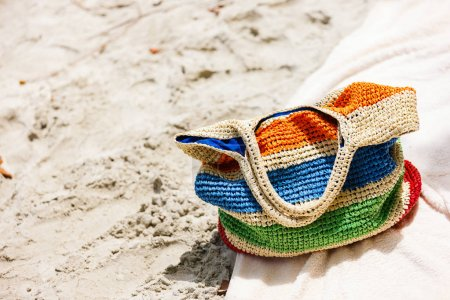 . Straw bag with towels
