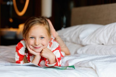 Adorable little girl at home