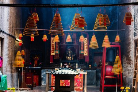 Circular incenses in Chinese temple