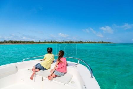 Kids at boat tour