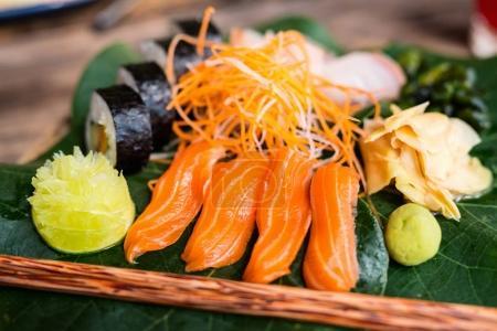 Japanese cuisine sushi and sashimi