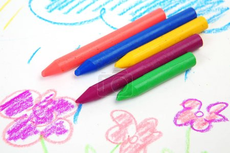 Photo for Colour pencils on a white background - Royalty Free Image