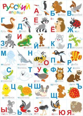 Russian zoo alphabet