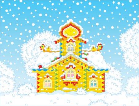 Ornate tower on Christmas
