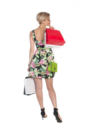 shopping women on white