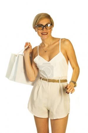 shopping women on white