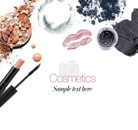 Photo pour Collage de produits cosmétiques, option de mise en page - image libre de droit