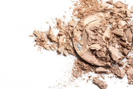Photo for Make up crushed powder on white background - Royalty Free Image