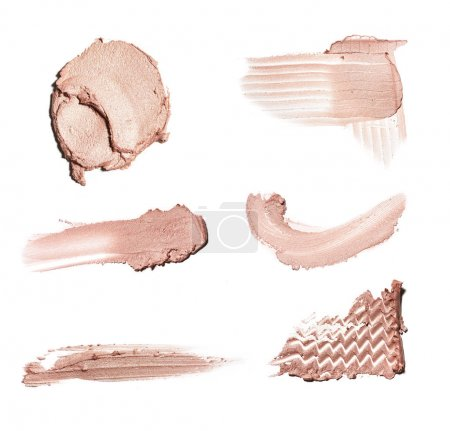 smear paint of cosmetic and beauty products. make up accessories