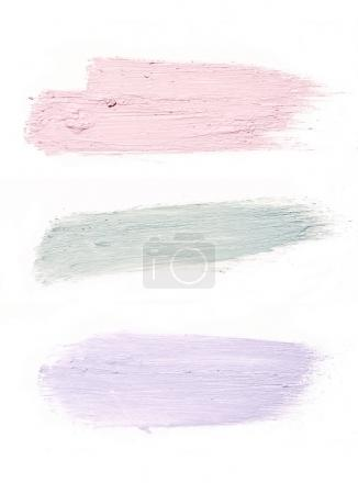 smear paint of cosmetic and beauty products