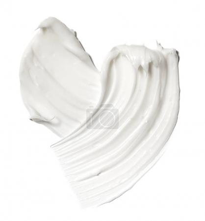 smear paint of white cosmetic products