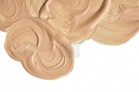 Photo for Smear paint of cosmetic products on a white background - Royalty Free Image