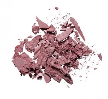 Photo for Make up crushed light pink shadow on white background. Light pink powder texture isolated on white background - Royalty Free Image