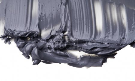 Black smear and texture of black mud mask