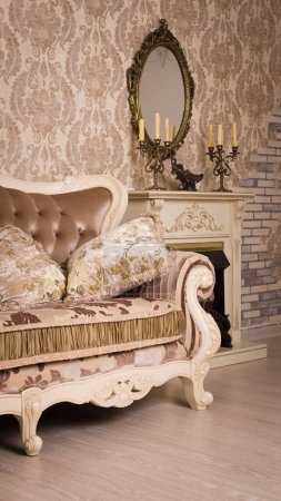Photo for Boudoir. Luxurious interior in the vintage styl - Royalty Free Image