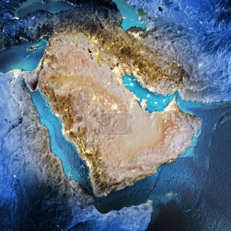 Middle East space background