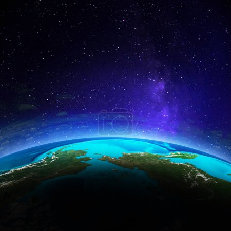 Planet Earth 3d space