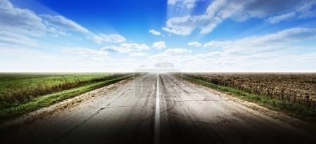 Highway road background