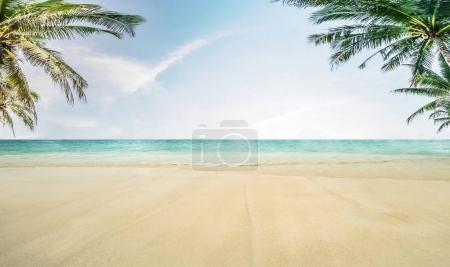 Sun and island beach