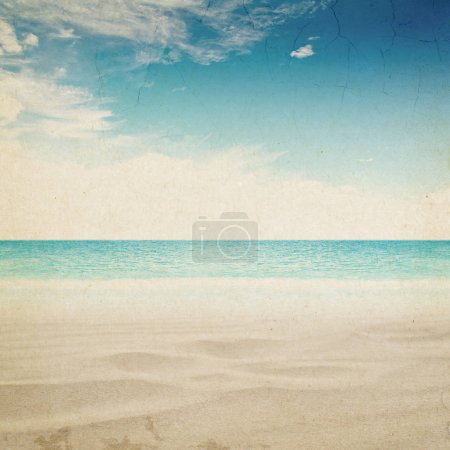 Tropical vintage beach landscape