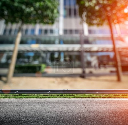 Photo for Modern business concept background. Blur bokeh skyscrapers - Royalty Free Image