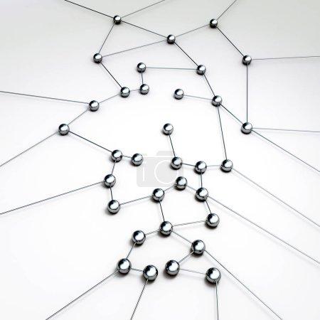 Photo pour Concept de connexion réseau de technologie numérique rendu 3d - image libre de droit