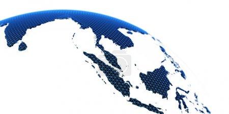 Photo pour Concept mondial planète Terre. Éléments de cette image fournis par la NASA. rendu 3D - image libre de droit
