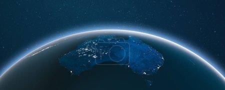 Foto de Tierra desde el espacio. Elementos de esta imagen proporcionados por la NASA. renderizado 3d - Imagen libre de derechos