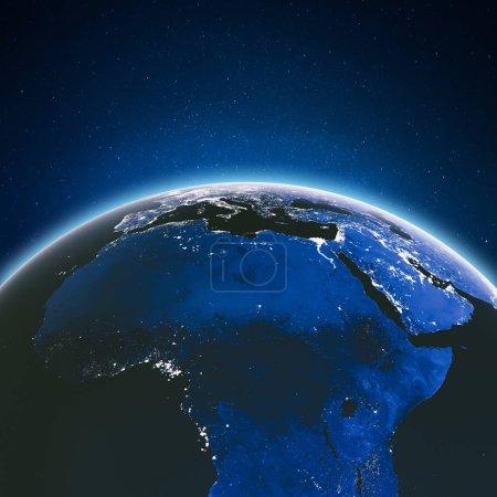 Photo pour La Terre depuis l'espace. Éléments de cette image fournis par Nasa. 3d Rendu - image libre de droit