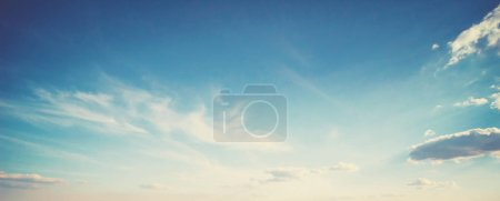 Photo for Summer colors sky and clouds. Nature background - Royalty Free Image
